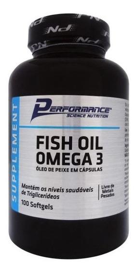 Fish Oil Ômega 3 1000mg 100 Softgels - Performance Nutrition