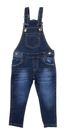 Macacão Jeans Masculino Jardineira Meninos Tamanho 4 Ao 16