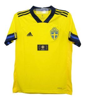 Camisa Nova Da Suécia Torcedor 2020 - Desconto + Garantia