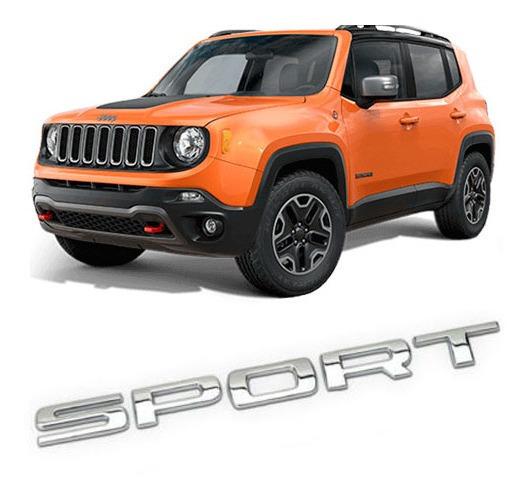 Emblema Traseiro Sport Acessórios Jeep Renegade Compass
