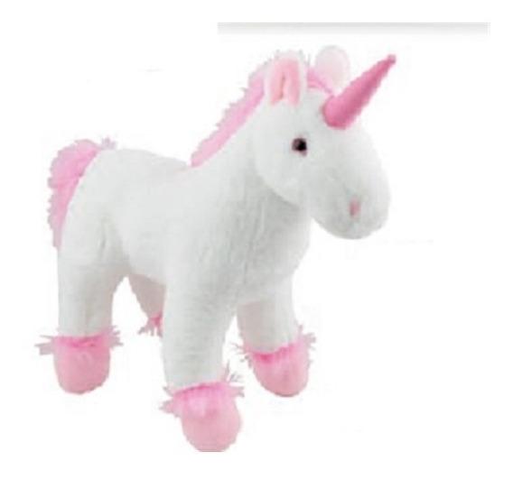 Unicornio De Pelucia Branco Bichinho Do Bebe Antialergico