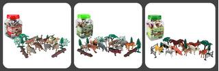Kit De Dinosaurios Y Animales Granja - Selva = Jungla X 20 C/u Infantil