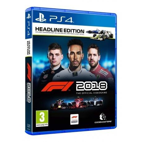 F1 2018 Headline Edition Ps4 Mídia Física Lacrado Português
