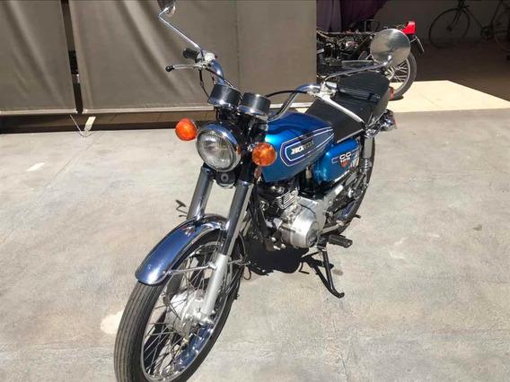 Honda Cg 125 Azul 1978 Placa Preta!