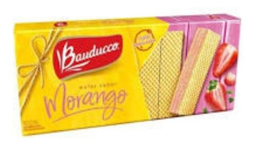 Biscoito Wafer Morango Bauducco 140g