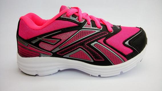 Tênis Infantil Menina Feminino Leve Confortável Pink Preto