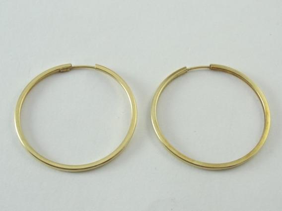 Brincos De Ouro 18k - Argolas - Lindas