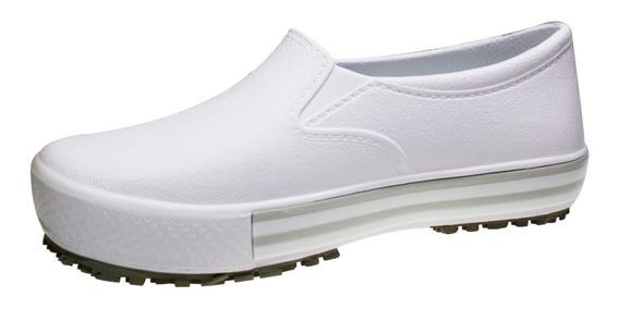 Tenis Branco Antiderrapante Softworks Eva Bb80 Indicado P/ Radiologia Enfermagem Certificado Mte Atende Norma Nr32