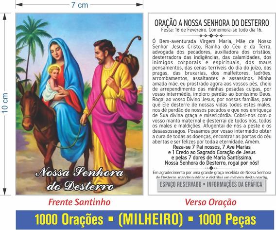 Nossa Senhora Do Desterro (500 Santinhos) Frete Grátis