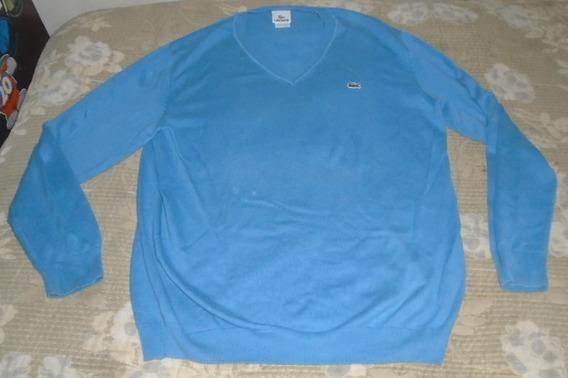 Lacoste Blusa Azul Claro Unissex Tamanho 5 - G