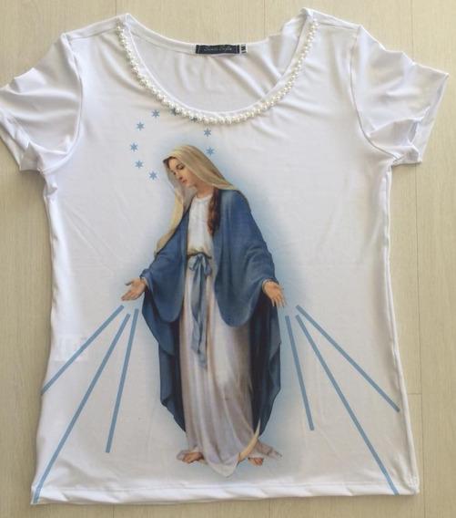 T-shirt Nossa Senhora Das Graças Moda Católica