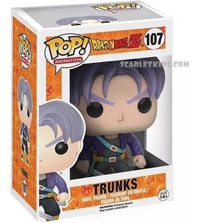 Funko Pop Dbz Trunks 107 Original Pop Animation Scarlet Kids