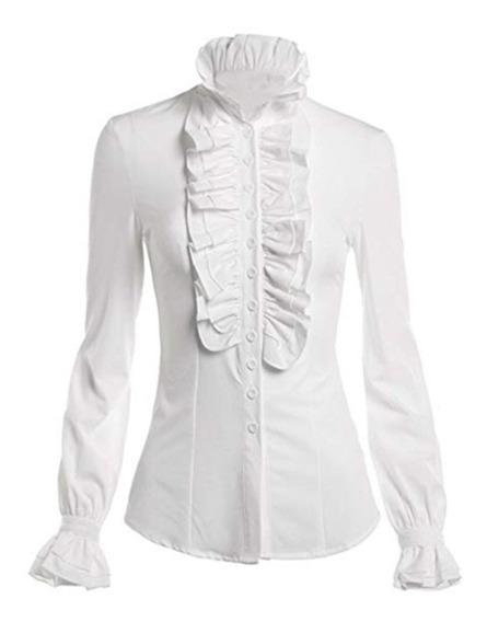 Blusa Camisa Estilo Victoriano Hermosos Holanes