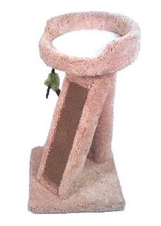 Elegante Cama De Pedestal Para Gatos Y Siesta Con Rascador D