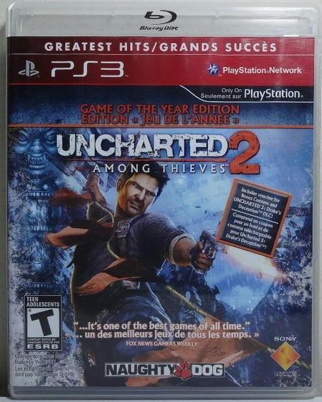 Jogo De Ps3 Uncharted 2 Em Mídia Física.