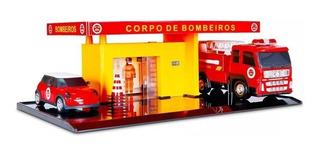Posto Bombeiro Infantil Brinquedo Corpo De Bombeiro+frete