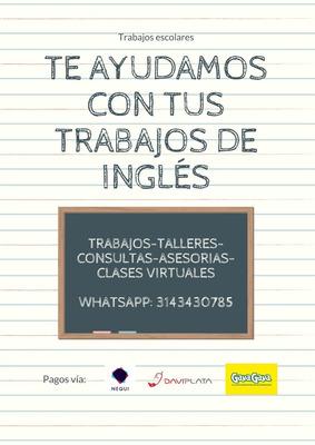 Ayuda En Trabajos Escolares De Inglés, Talleres, Asesorias