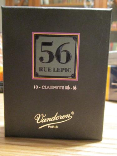 Imagen 1 de 7 de Cañas Vandoren 56 Rue Lepic Para Clarinete Sib N°3 (cr503)
