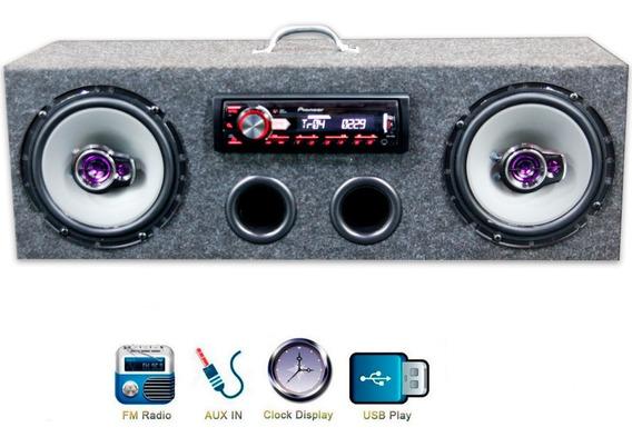 Caixa Residencial Radio Pioneer + Alto Falante 6 Traxial