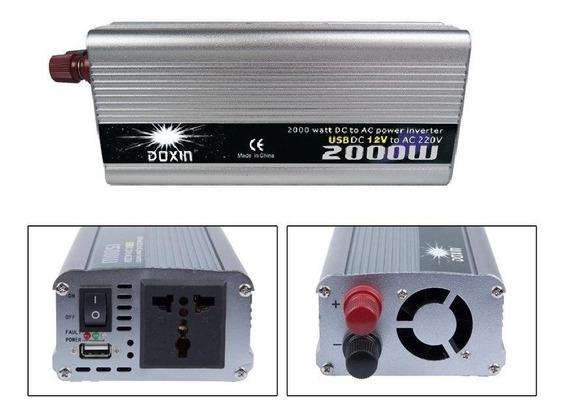 Inversor De Potencia 2000w 12v A 220v + Usb Conversor Convertidor
