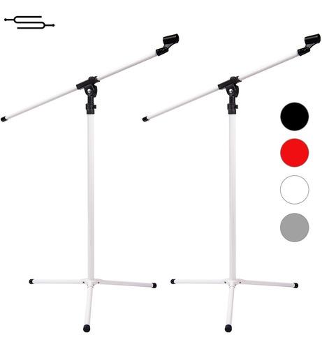 Imagen 1 de 5 de 2 Pie Microfono Jirafa Con Pipeta Reforzado Metalico - Envio