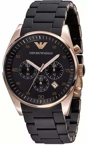 Relógio Pa3903 Emporio Armani Ar5905 Masculino Preto + Cx