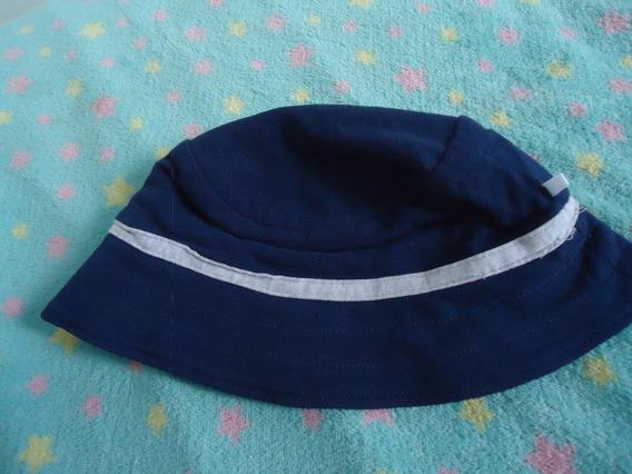 Touca Chapéu Bebê Azul E Cinza Usado