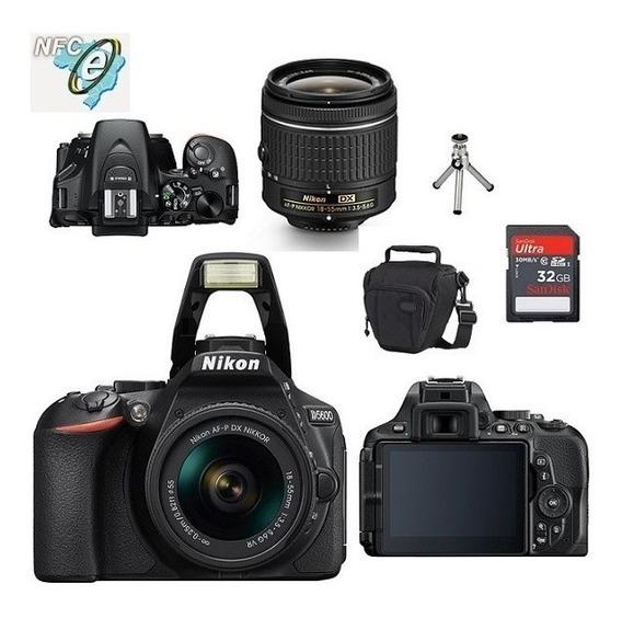Nikon D5600 Lente 18-55mm Vrii+bolsa+tripe+32gb Classe 10