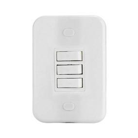 Kit 20 Conjunto 4x2 Interruptor 3tp Emb Branca