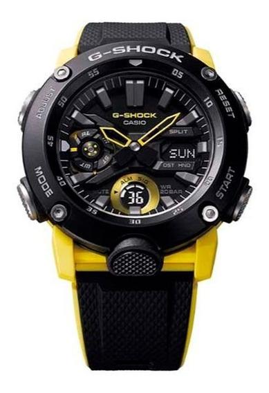 Relógio G-shock Ga 2000 1a9dr Amarelo Preto Garantia Origina
