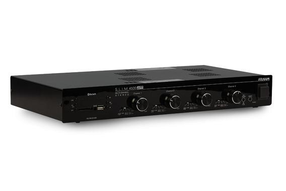 Amplificador E Receiver Para Som Ambiente Frahm Slim 4500