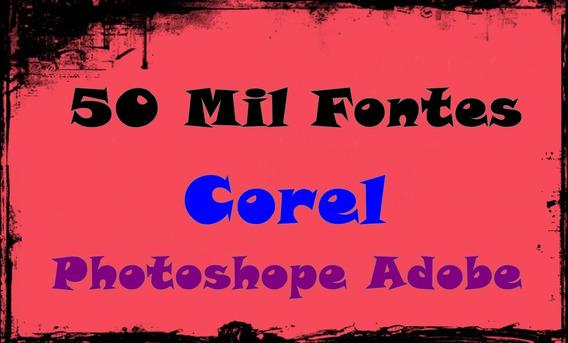 50 Mil Fontes Para Corel Photoshope Adobe