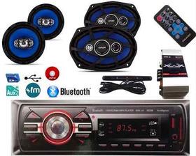 Som Autoradio Bluetooth+par De 6x9 110+par De6+modulo+antena