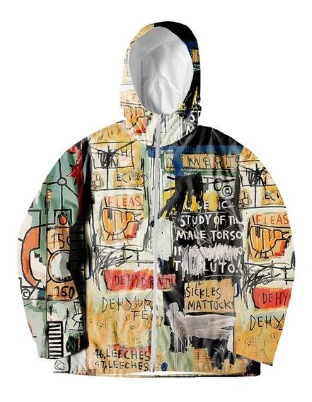 Jaqueta Corta Vento Basquiat Art Graffiti Swag Trust Pixo Mt