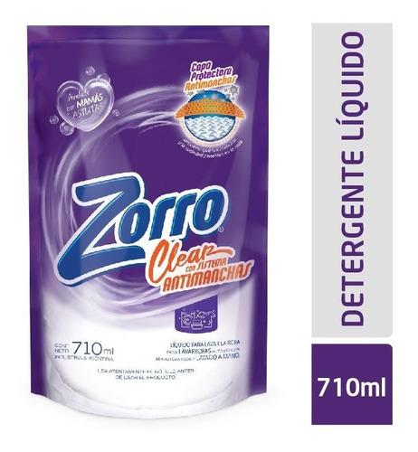 Detergente Líquido Zorro Clear Dp 710ml