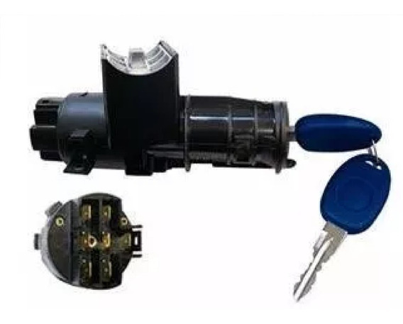 Trava Direção C/ Comutador Chave Completo Palio Strada 96/