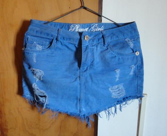 Mini Saia Jeans Planet Girls Tam 40
