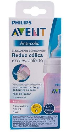 Imagem 1 de 3 de Mamadeira Anti-colic Rosa 125ml