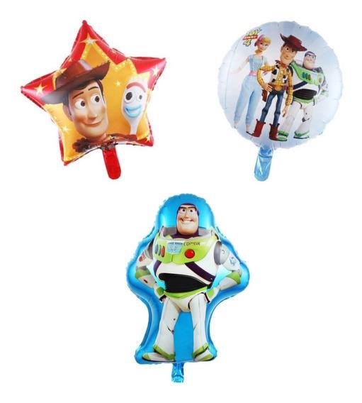 3 Globos Toy Story 4 Woody Y Forky Estrella Buzz Lightyear