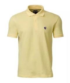 Camisa Polo Masculina Infantil Made In Mato Amarela P2048