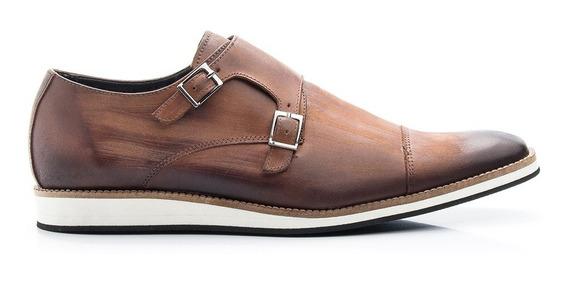 Sapato Social Masculino Oxford Casual Couro Legítimo E521