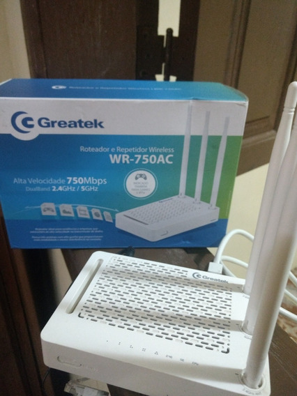 Roteador E Repetidor Wireless Wr-750ac Greatek