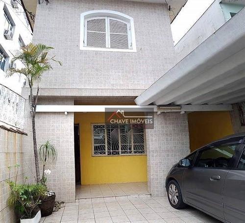 Sobrado Com 3 Dormitórios À Venda, 152 M² Por R$ 750.000,00 - Campo Grande - Santos/sp - So0126