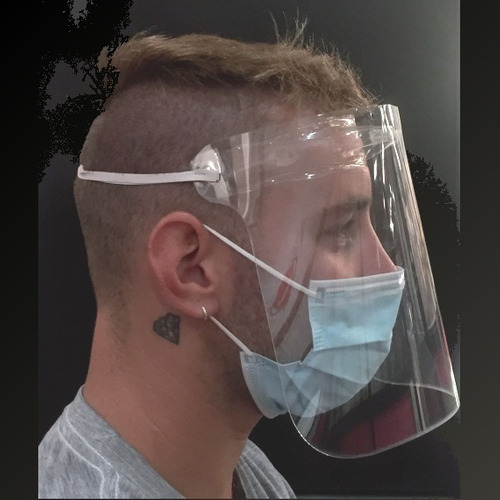 50 X Mascaras Protectora Facial Completa Protege Ojos Y Cara