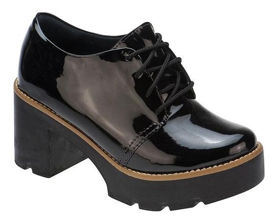 Sapato Oxford Feminino Tratorado Salto Curto | P01a1.ox
