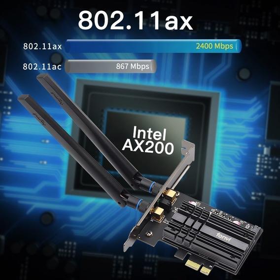 Placa Wireless Intel Ax200 Wifi Ax 6 Geração Bluetooth 5.0