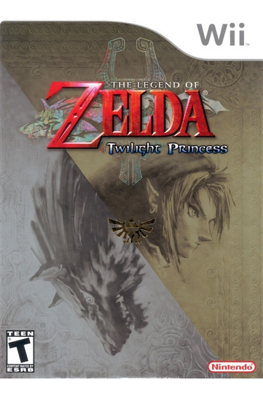 Raro Zelda Twilight Princess Wii Black Label Lacrado Novo