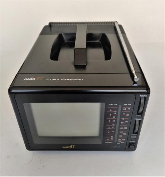 Mini Tv Colorida 5,5 Com Am/fm Ntsc Pal M E Pal N Japonesa