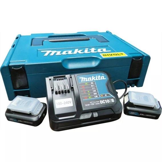 Makita Kit 2 Baterias 12v 2ah + Carreg Biv + Maleta 197656-9
