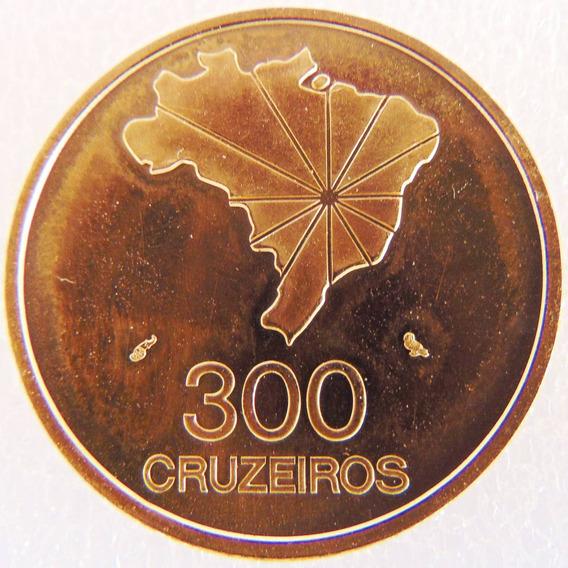 Moeda De Ouro Maciço 300 Cruzeiros Comemorativa Brasil 16 Gr